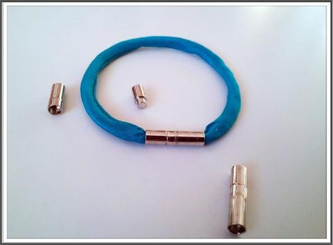 Magneettilukko Ø 4 mm, putki, teräsväri