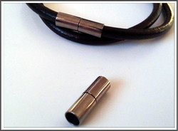 Magneettilukko, Ø 5 mm, putki, väri: gun metal