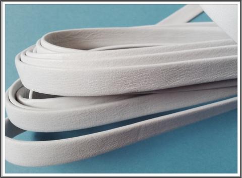 Nahkanauha 10 x 2 mm, sileä Nappa, valkoinen