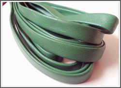 Nahkanauha 10 x 2 mm, sileä Nappa, vihreä