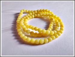 Mashan Jade, Ø 4 mm, keltainen, nauha