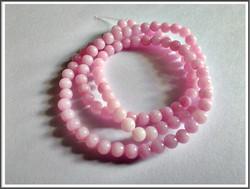 Mashan Jade, Ø 4 mm, vaaleanpunainen, nauha