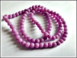 Mashan Jade, Ø 4 mm, lila, nauha