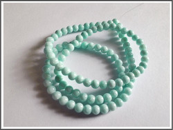 Mashan Jade, Ø 4 mm, vaaleansininen, nauha