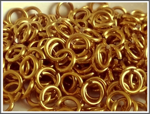 Rengas Ø 5 mm, lanka 1.2 mm, 50 kpl, kulta