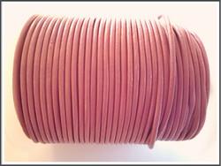 Nahkanauha pyöreä Ø 2 mm, vanha roosa, metri