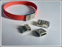 Magneettilukko 10 x 3 mm kristallein, teräsväri
