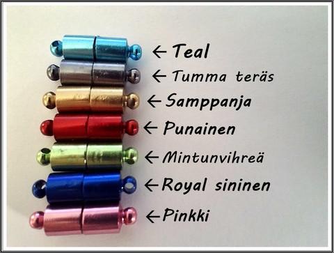 Magneettilukko alumiinirenkaille, eri värejä