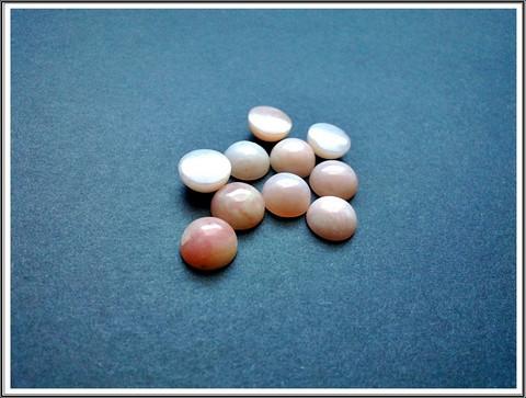 Australian pinkki Opaali A, pyöreä Ø 9 mm kapussi