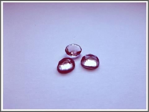 Pinkki ametisti AA, Ø 7 mm ruusuhiottu kapussi