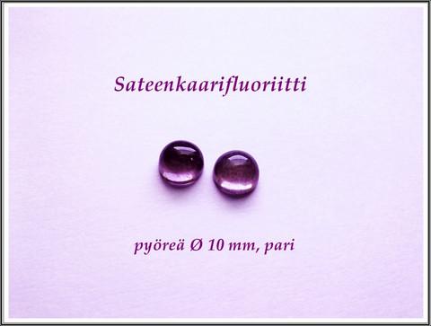 Fluoriitti AA, 10 mm kapussi, pyöreä, PARI