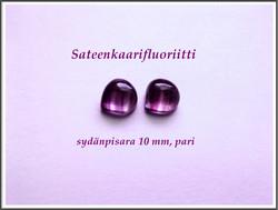 Fluoriitti AA, 10 mm kapussi, sydänpisara, PARI