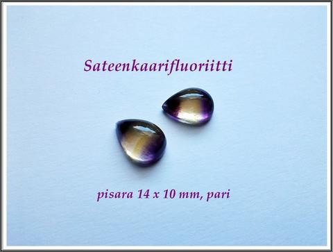 Fluoriitti AA, 14 x 10 mm kapussi, pisara, PARI