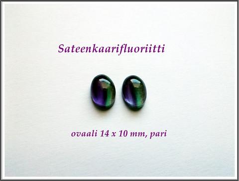 Fluoriitti, 14 x 10 mm kapussi, ovaali, PARI