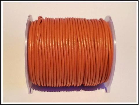 Nahkanauha pyöreä Ø 2 mm, poltettu sienna, metri