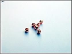 Metallihelmi pyöreä 5 x 4 mm, ruusukulta, 5 kpl