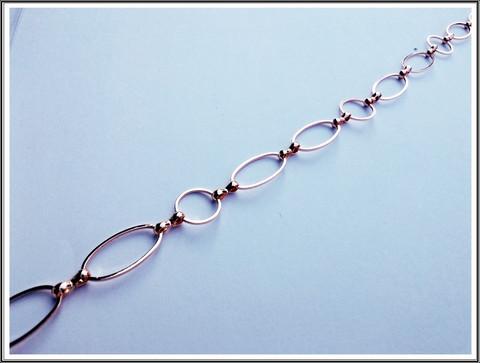 Metalliketju, lenkit Ø 12 mm ja 19.5 x 10.5 mm, ruusukulta, metri