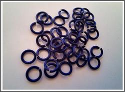 Rengas Ø 5 mm, lanka 1.2 mm, 50 kpl, satiini royal sininen