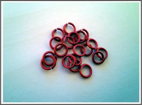 Rengas Ø 5 mm, lanka 1.2 mm, 50 kpl, satiini punainen