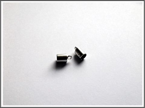 Nauhanpäät Ø 4 mm nauhalle, ruostumaton teräs, pari