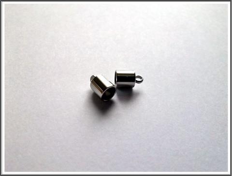 Nauhanpäät Ø 5 mm nauhalle, ruostumaton teräs, pari