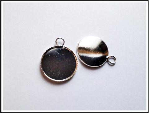 Korupohja pyöreä Ø 18 mm kapussille, teräsväri