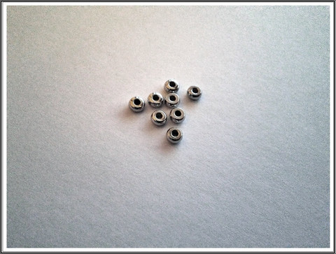 Metallihelmi, 4 mm rondelli, ruostumaton teräs, 10 kpl