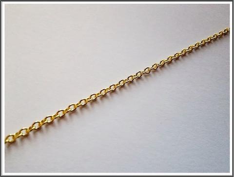 Metalliketju, lenkit 2.5 x 2 mm, kulta, 0.5 m