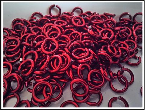 Rengas Ø 4.1 mm, lanka 1.2 mm, 50 kpl, punainen