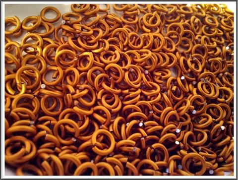 Rengas Ø 4.1 mm, lanka 1.2 mm, 50 kpl, satiini oranssi