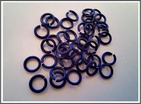 Rengas Ø 4.1 mm, lanka 1.2 mm, 50 kpl, satiini royal sininen