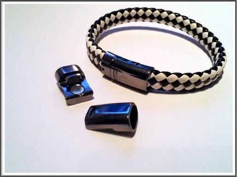 Magneettilukko 10 x 7 mm, väri: tumma teräs