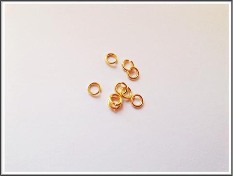 Välirengas Ø 4 mm, kulta, 20 kpl