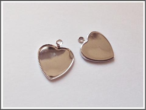 Korupohja sydän 12 mm, teräsväri