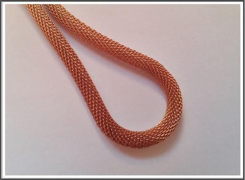 Metallinauha Ø 6 mm, ruostumaton teräs, ruusukullan värinen, 10 cm