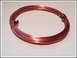 Värillinen alumiinilanka Ø 1 mm, 10 metriä, tumma ruusukulta