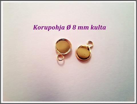 Korupohja Ø 8 mm kapussille, kulta