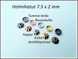 Helmihattu 7.5 x 2 mm Ratas, eri värejä, 10 kpl