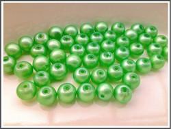 Helmiäislasihelmet Ø 8 mm, vihreä, 50 kpl