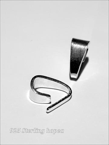 Riipuslenkki .925 hopea, 8.0 x 4.5 mm, taitettu