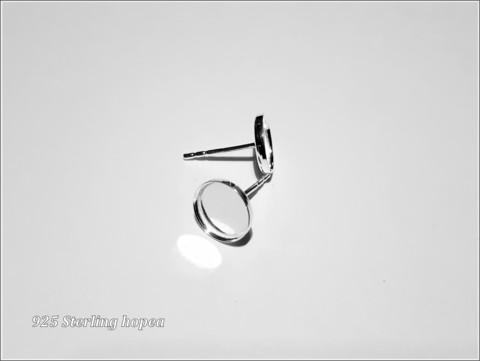Korvistapit .925 hopeaa Ø 8 mm korupohjalla, pari