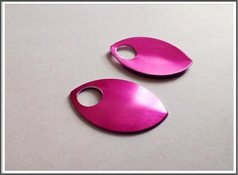 Alumiinihela iso, 30 x 20 mm, pinkki