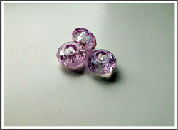 Kristallilasihelmi, 14 x 9 mm, Light Amethyst AB