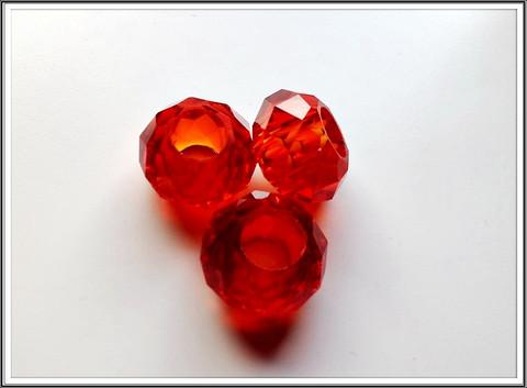 Kristallilasihelmi, 14 x 9 mm, Granate