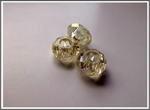 Kristallilasihelmi, 14 x 9 mm, Lime AB