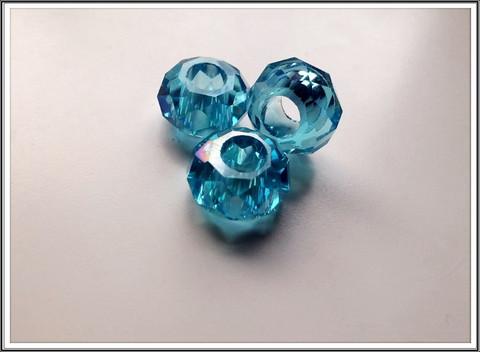 Kristallilasihelmi, 14 x 9 mm, Turquoise AB