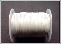 Nahkanauha pyöreä Ø 2 mm, valkoinen, metri