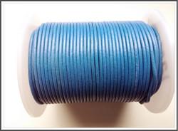 Nahkanauha pyöreä Ø 2 mm, sininen, metri