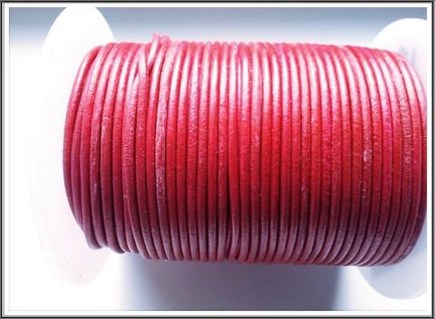 Nahkanauha pyöreä Ø 2 mm, punainen, metri