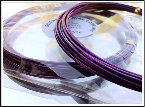 Värillinen alumiinilanka Ø 1,5 mm, 3 metriä, tumma purppura (Dark purple)